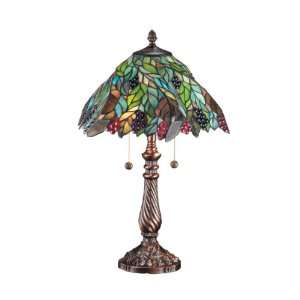Dale Tiffany TT100915 Pinot Noir Table Lamp, Chocolate Bronze and Art