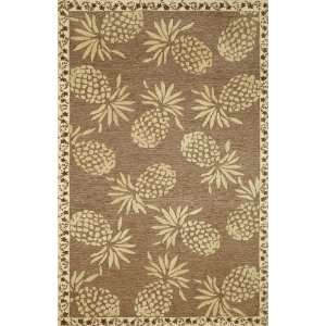 TransOcean Rugs Cargo Pineapple Neutral Rectangle 5.00 x 7