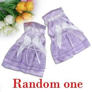 Purple Dog Pet Wedding Dress Apparel Clothes
