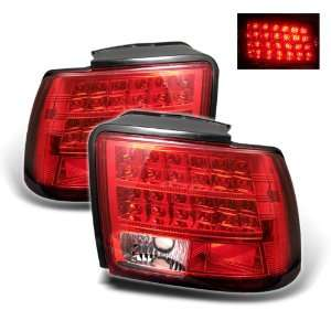 1999 2004 Ford Mustang Red/Clear SR LED Tail Lights