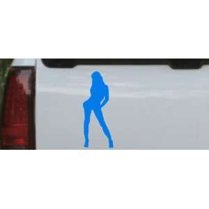 Sexy Girl Silhouettes Car Window Wall Laptop Decal Sticker    Blue