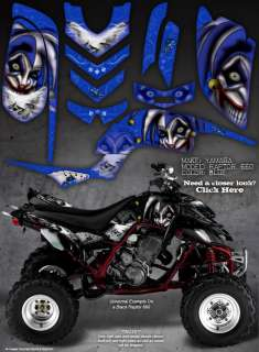 YAMAHA RAPTOR 660 660R GRAPHICS THE EVIL JESTER BLUE