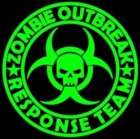 12 inch Zombie Outbreak Response Team Vinyl Decal