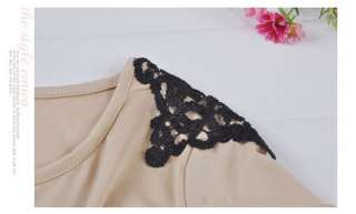 Fashion Flower Shoulder Casual Clubwear Crew Neck Long Sleeve Mini