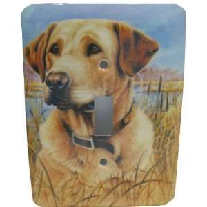 Yellow Lab Labrador Retriever Dog Single Switch Plate