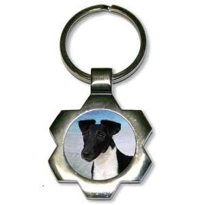 Smooth Fox Terrier Star Key Chain