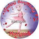 Angelina BALLERINA Edible CAKE Image Icing Topper Sheet items in Cool