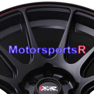 16 16x8 XXR 527 Black Red Stripe Concave Rims Wheels 4x100 90 00 05