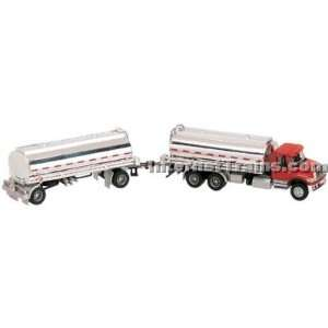 7000 3 Axle Tanker Truck w/Trailer   Red/Silver Toys & Games