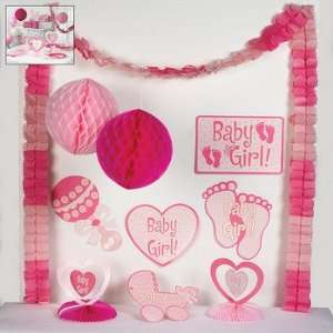 Baby Girl Shower Decorating Kit   Party Decorations