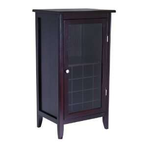 Winsome Wood 92522 Ryan Wine Cabinet Home Bar, Dark