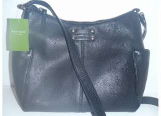 NEW Kate Spade Black Leather Yardley Nicole Crossbody