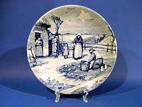 d575 Vintage Royal Delft Wall Plate Westraven APRIL