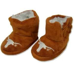 TEXAS LONGHORNS OFFICIAL BABY BOOTIES SZ EXTRA LARGE (12