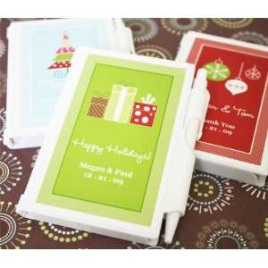 A Winter Holiday Personalized Notebook Favors Health