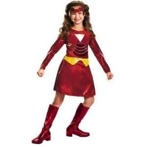 Iron Man 2 Ironette Girls Costume Dress Up Large Plus 10 1/2   12 1/2