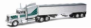 Peterbilt 379 Diecast Toy Truck With Grain Trailer 132