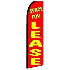 Space For Lease Extra Wide Swooper Feather Business Flag Office