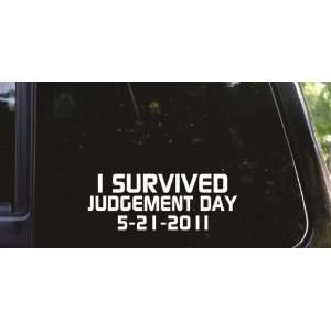 I survived Judgement day 5 21 11 funny vinyl decal