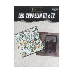Classic Led Zeppelin III & IV Bass Tab Book Musical Instruments