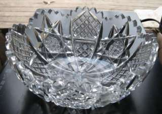 Signed HAWKES American Brilliant Cut Glass 8 Bowl Antique