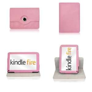 Kindle Fire PINK  BUNDLE  360° Rotating Case