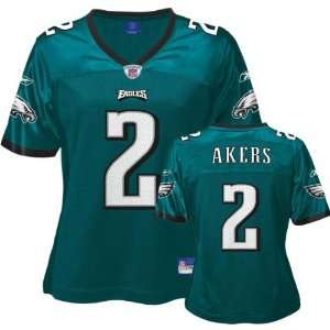 David Akers Green Reebok Replica Philadelphia Eagles Women
