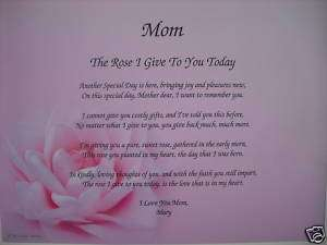 MOM POEM THE PERFECT PERSONALIZED GIFT FOR BIRTHDAY, CHRISTMAS, MOTHER