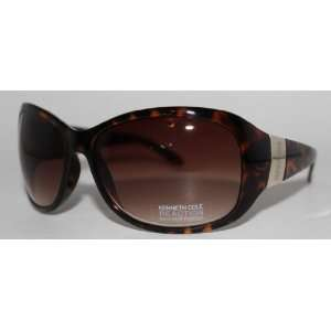Kenneth Cole Reaction Sunglass Demi Amber Rectangle