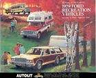1979 Ford Pickup Camper Travel Trailer Brochure
