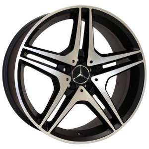19x8.5 19x9.5 Mercedes Benz C E Class Wheels Rims Matt Black Mach