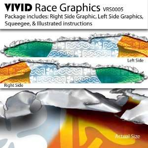VIVID Irish Flag Race Car Graphics/Decal