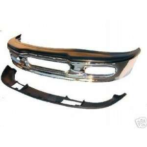 97 98 F150/F250/Expedition Chrome Front Bumper, Top Pad and Valance