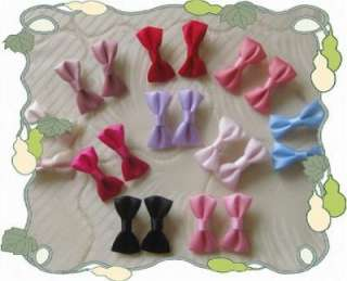 Beautiful 10 pairs of cute dot girls baby hair bow clip A 67