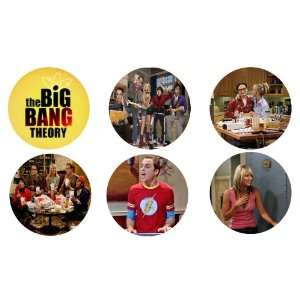Set of 6 the Big Bang Theory 1.25 Badge Pinback Button