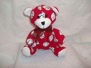 Sugar Loaf Red DICE GAMBLING Teddy Bear Stuffed Plush