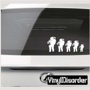 Family Decal Set Spaceman Stick People Car or Wall Vinyl