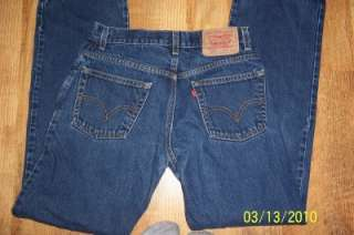 Levi Levis Mens 517 Boot Cut blue jeans 30x32 Denim