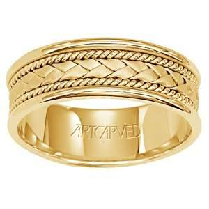 ARTCARVED SUCCESS 14k Two Tone Gold Mens Wedding Band ArtCarved