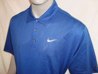 XL Nike Tiger Woods Body Mapping Argyle Textured Tour Logo Golf Polo