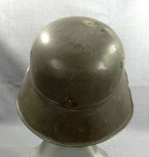 WWII GERMAN ARMY LUFTSCHUTZ MILITARY STEEL COMBAT HELMET HAT M42 M1942
