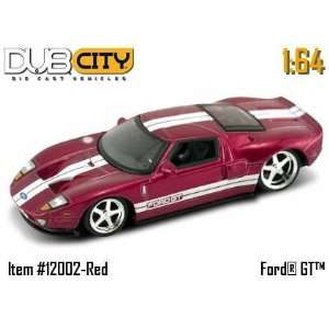 Jada Dub City Red Ford GT 164 Scale Die Cast Car Toys