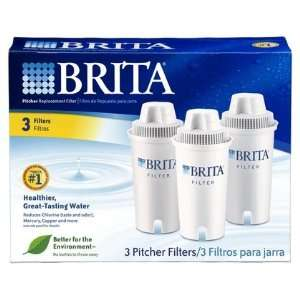 Brita Pitcher Filters 3 ct (Pack of 2) Health & Personal