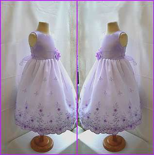 NEW WHITE CHAMPAGNE EASTER BRIDAL FLOWER GIRL DRESS