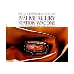 1971 MERCURY STATION WAGON Sales Brochure Book Automotive