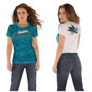 San Jose Sharks Womens Superfan Burnout Tee from Touch by