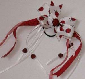Boutique Girl Summer Lady Bug LaDyBuG Pony Fun Hair bow