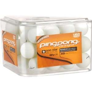 Ping Pong Ball, Pack of 36 (White, 40 Millimeter) Sports