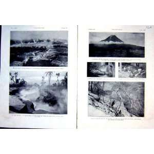 Merapi Volcano Eruption Lava French Print 1931 Mount