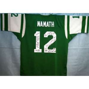 New York Jets Team Signed/Autographed Namath Jersey